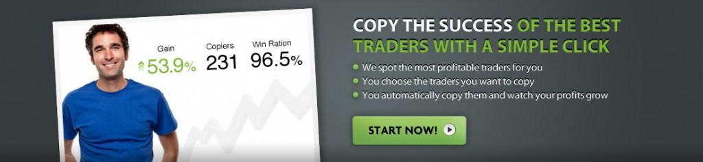 social trading page header